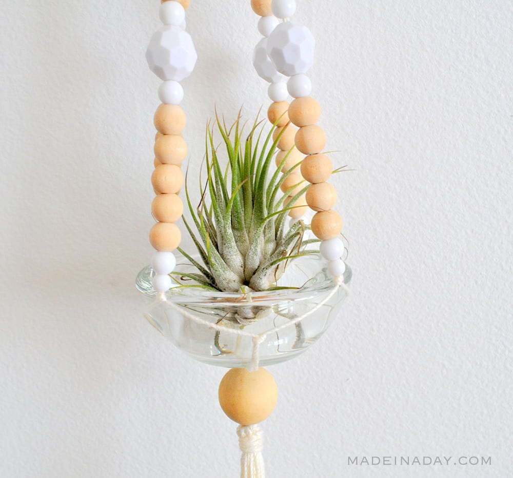Easy Beaded Macrame Plant Hanger 42