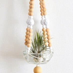 Easy Beaded Macrame Plant Hanger 31