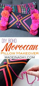 How to Make a DIY Boho Moroccan Pillow 1