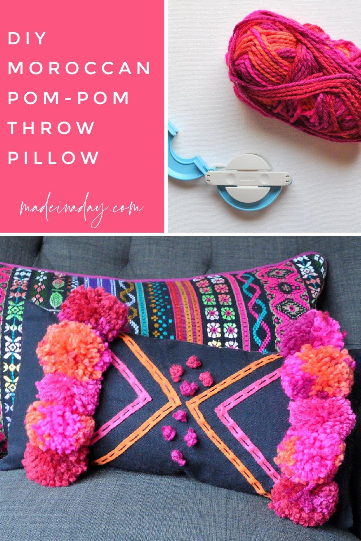 How to Make a DIY Boho Moroccan Pillow