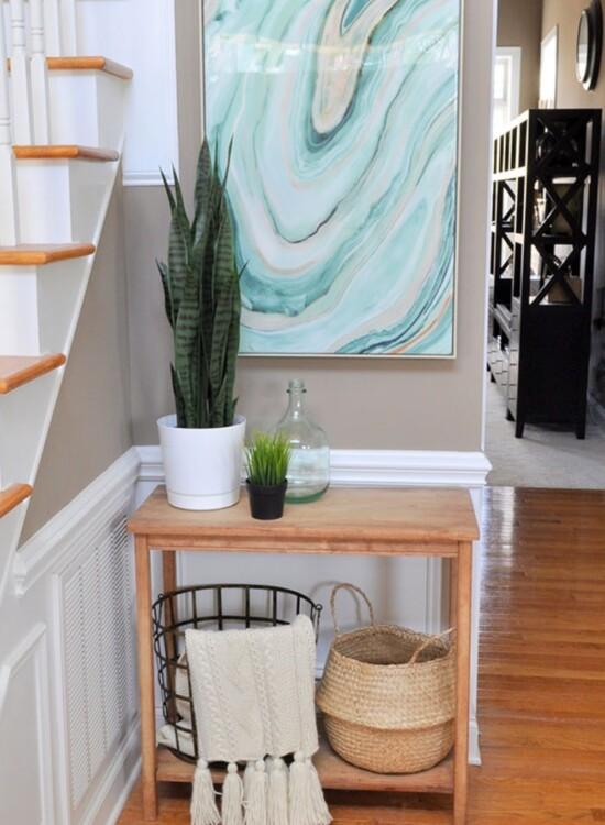 Fresh Entryway Makeover Using Silk Plants 37