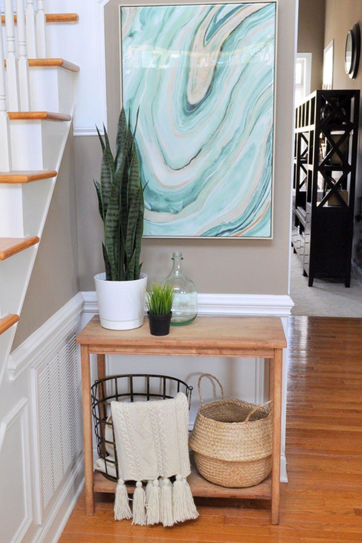Fresh Entryway Makeover Using Silk Plants