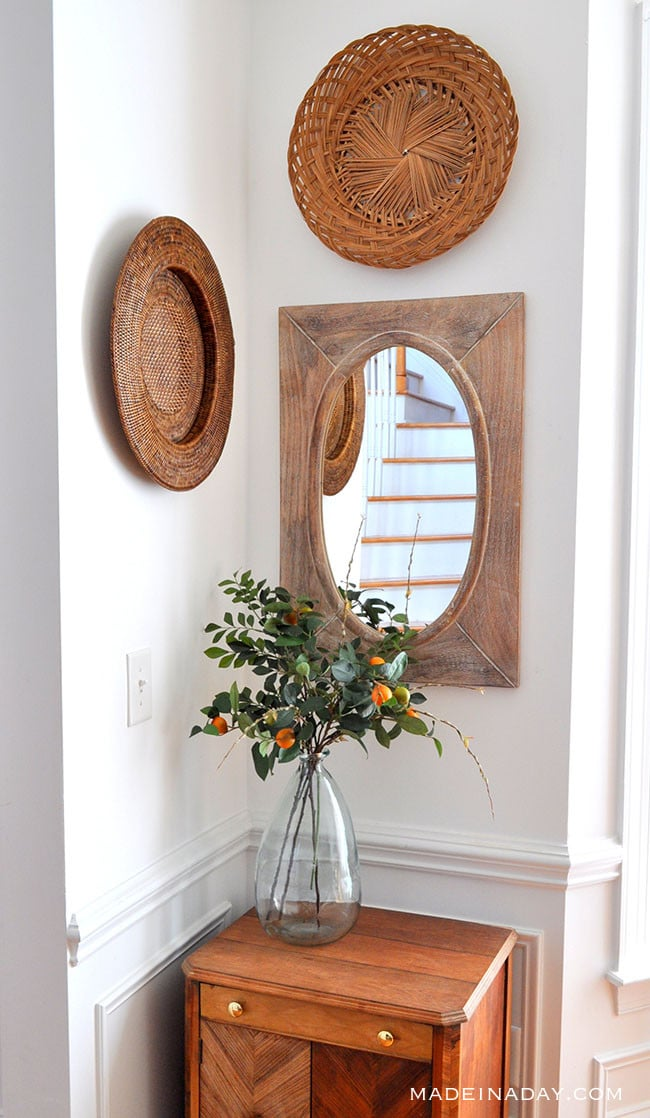 Fresh Entryway Makeover Using Silk Plants 7