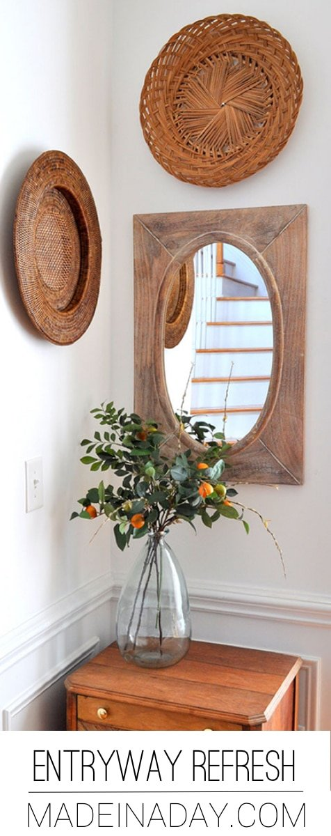 Fresh Entryway Makeover Using Silk Plants 39
