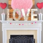 DIY Giant Pink Fur Heart Valentine 1
