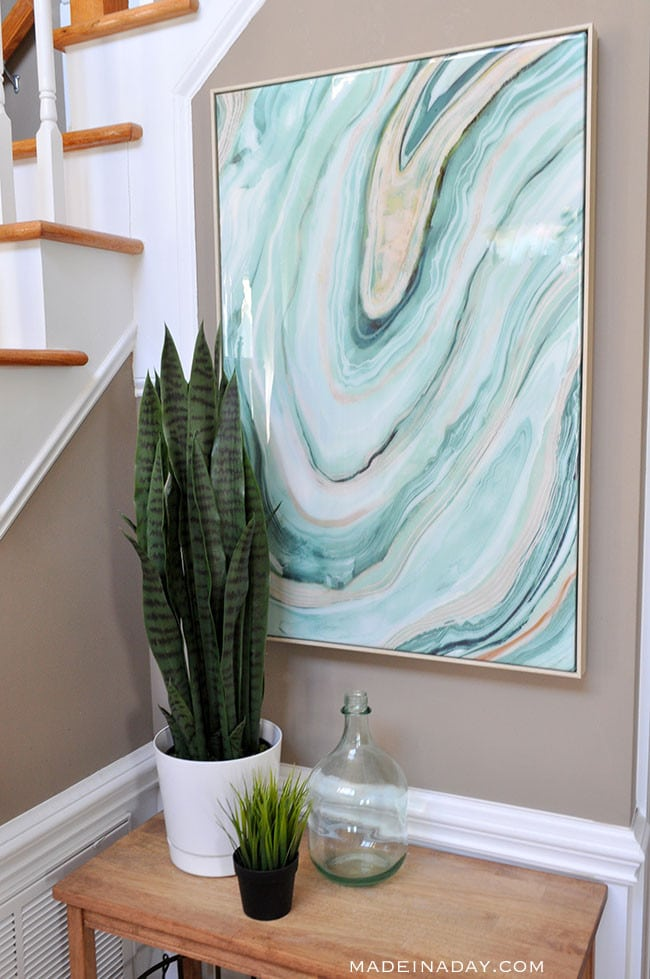 Fresh Entryway Makeover Using Silk Plants 4