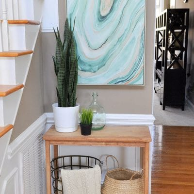 Fresh Entryway Makeover Using Silk Plants