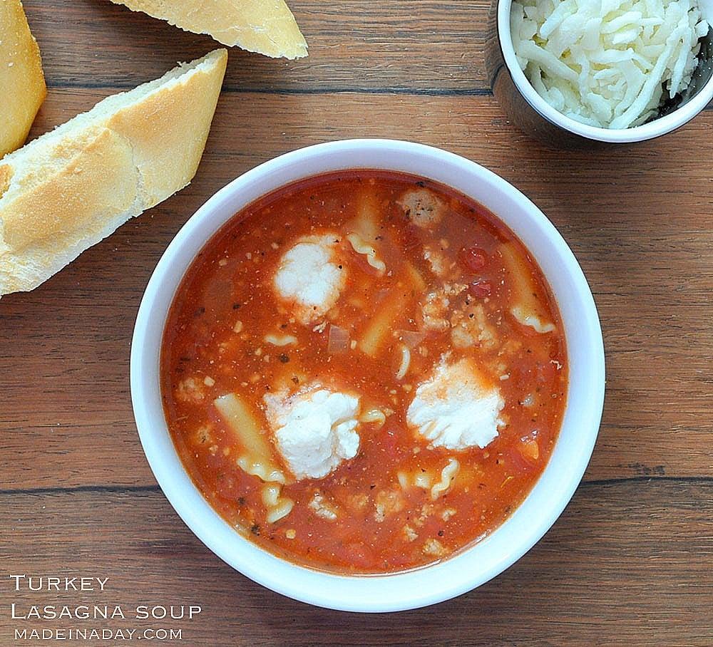Turkey Lasagna Soup Recipe, #soup tastes exactly like #lasagna, #turkey meat recipes, recipes for ground turkey, turkey soup, ground turkey recipe