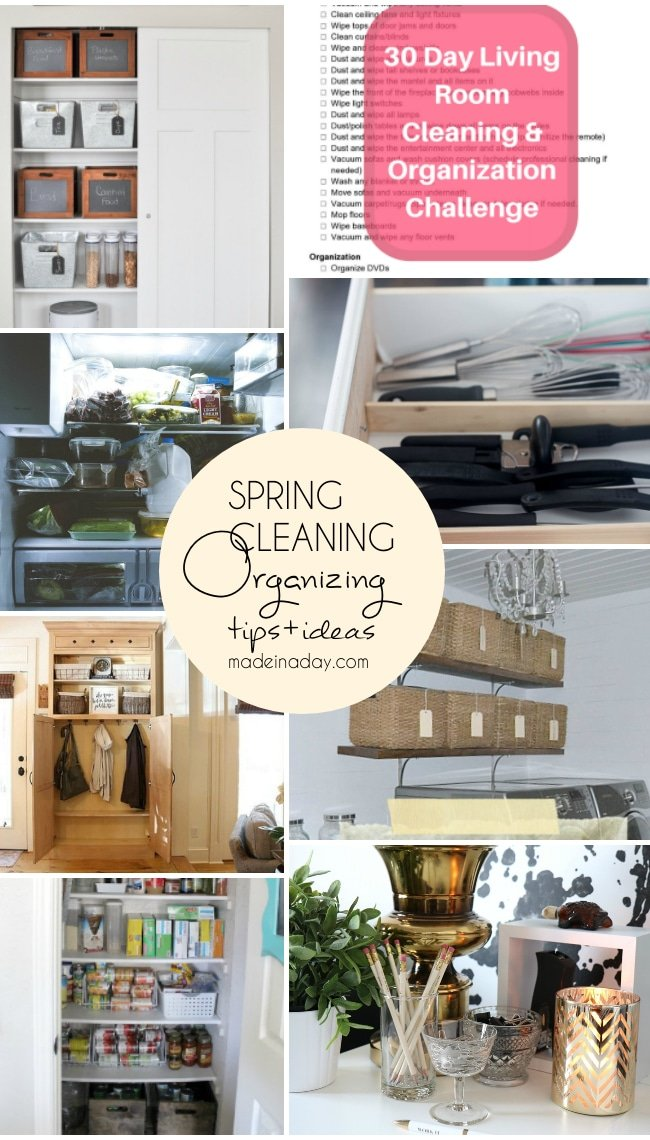 Spring Cleaning Organization Tips Tricks, Kitchen, mudroom, pantry refrigerator, laundry room, office desk! decluttering, kitchen drawers, #clean #cleanhome #organize #springclean #declutter #tidyup