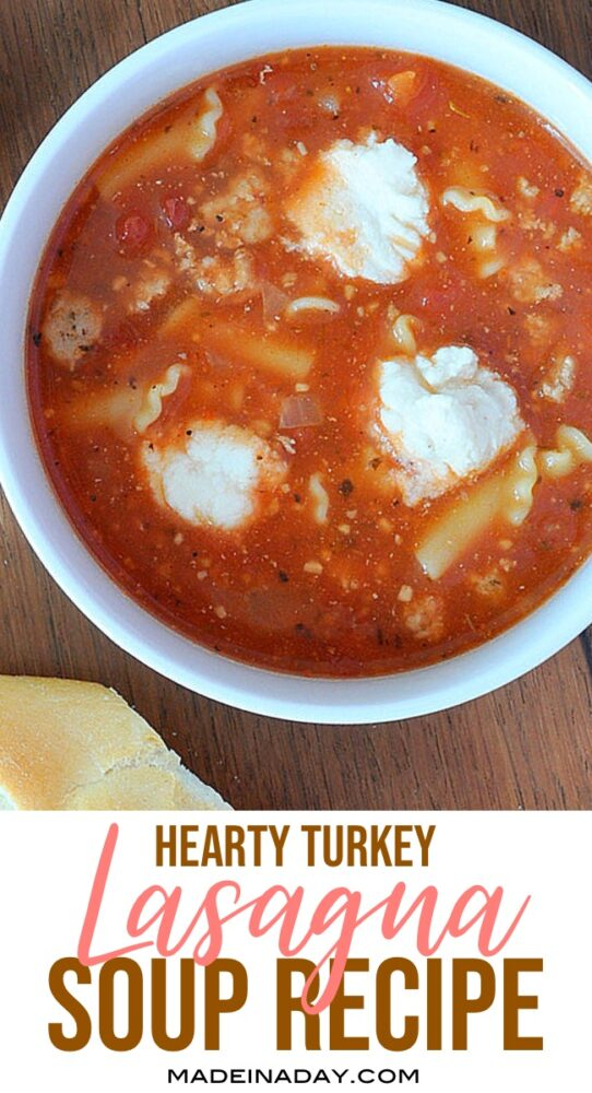turkey lasagna soup recipe