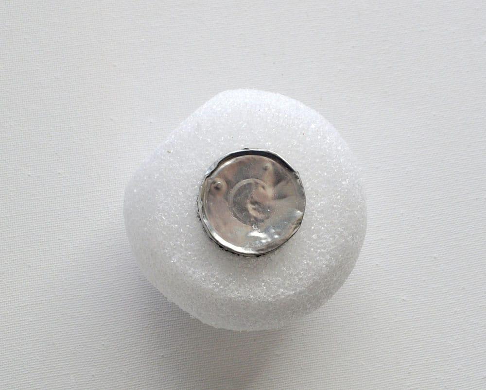 make a hole in foam