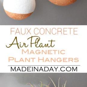 Faux Concrete Magnetic Air Plant Hanger 1