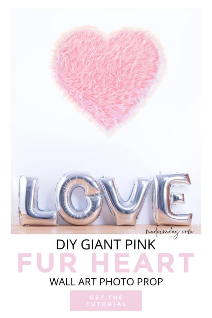 pink fur heart