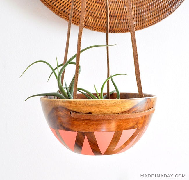 DIY wood Bowl planter, Wood Bowl succulent planter, DIY Wood bowl planter