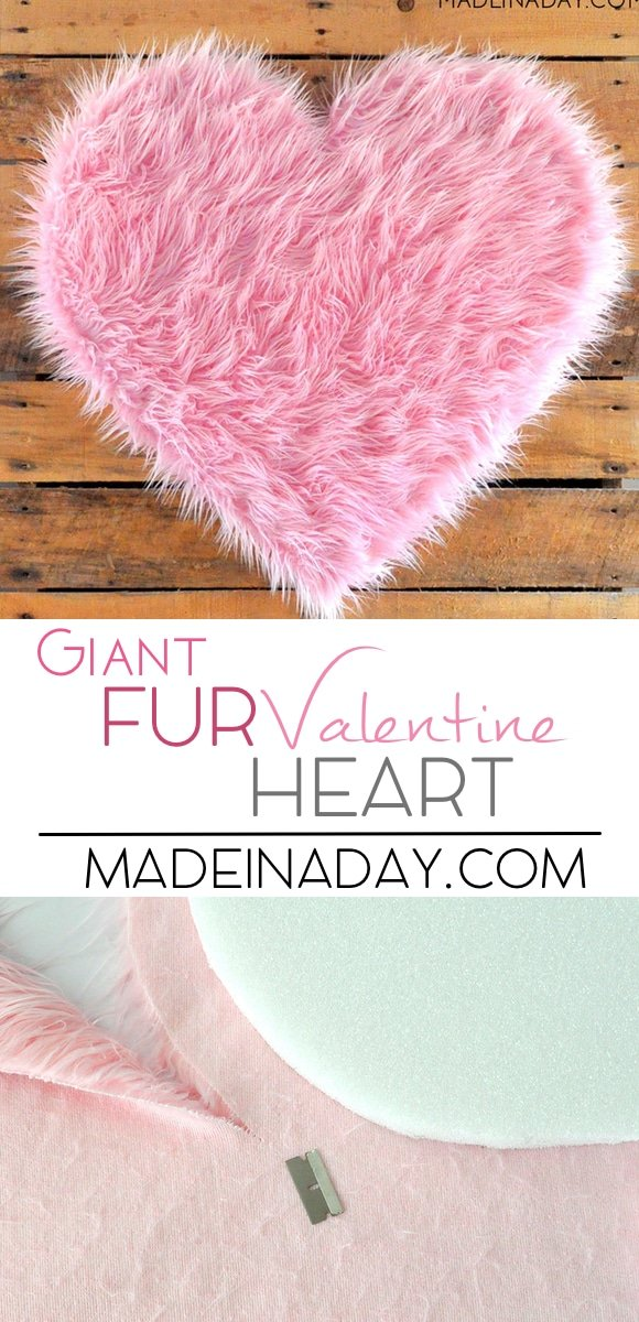 giant fur heart, pink fur heart, heart backdrop, large