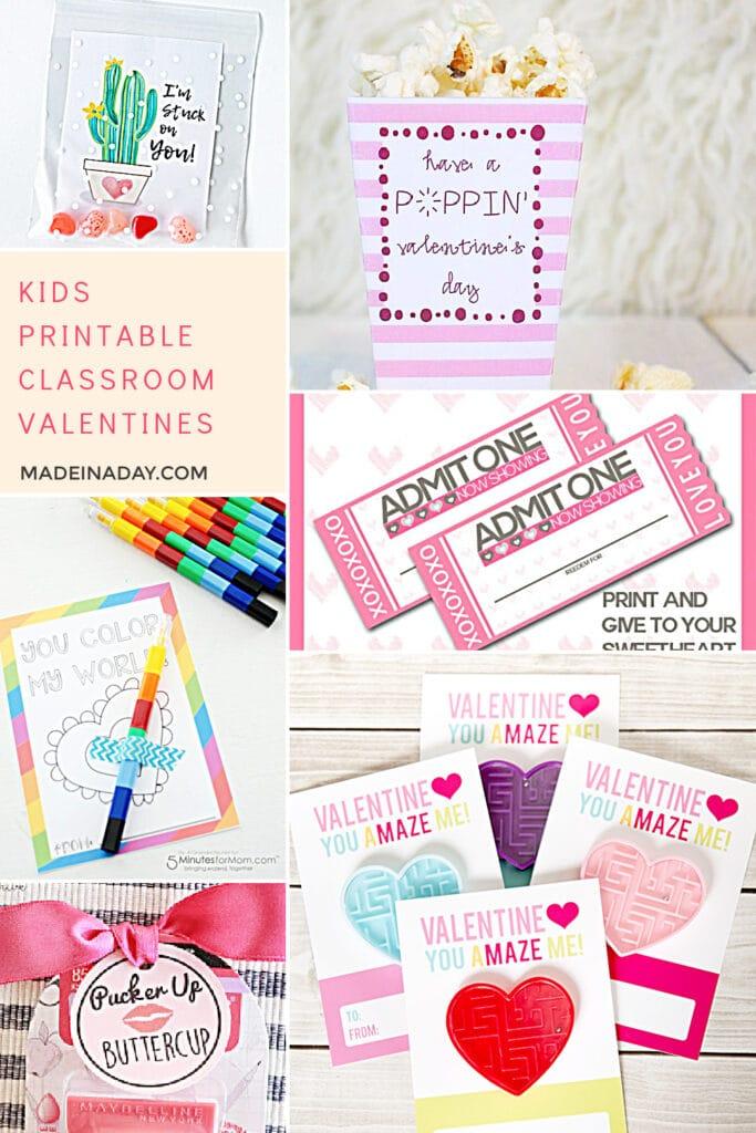 printable classroom valentine cards