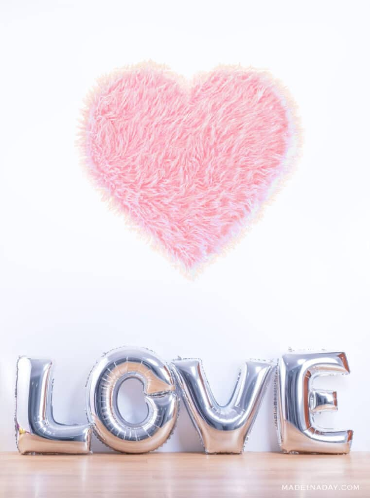 Valentines day giant heart wall art