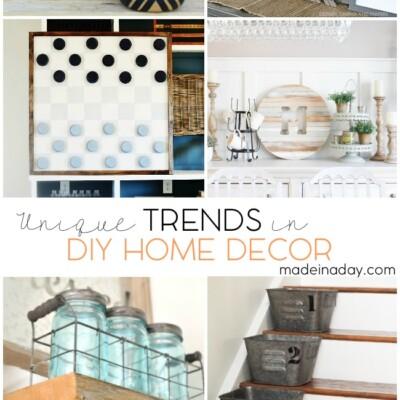 Unique Trends In DIY Home Decor