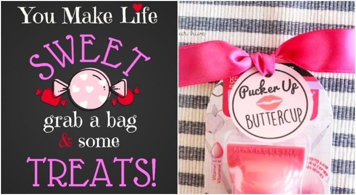 printable valentines banner, pucker up valentine