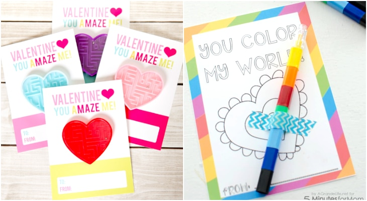 printable valentines day cards free, colorin valentines