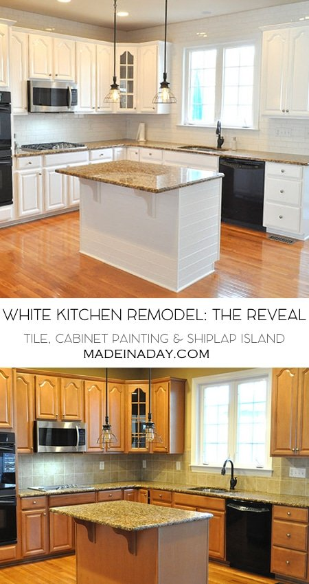 White Kitchen Remodel The Big Reveal • Made in a Day