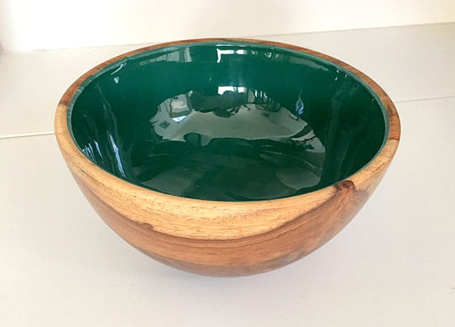 make a wood bowl into a planter