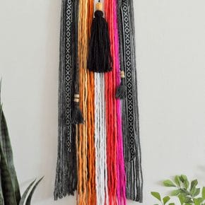 Colorful Baja Boho Fringe Wall Hanging 1