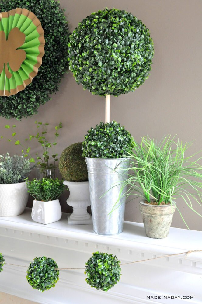 boxwood ball topiary, galvanized boxwood ball topairy
