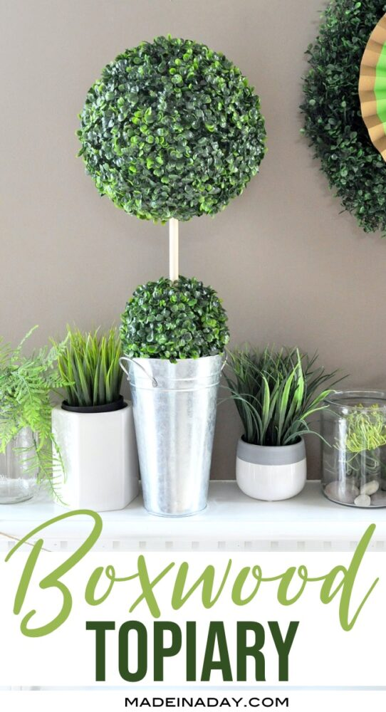 Hoe to make a Boxwood ball Topiary, how to make a boxwood ball garland