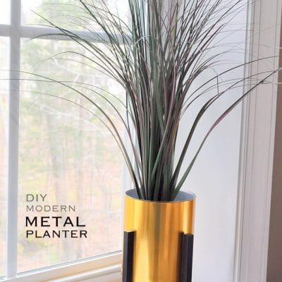 Faux Gold Metal Planter