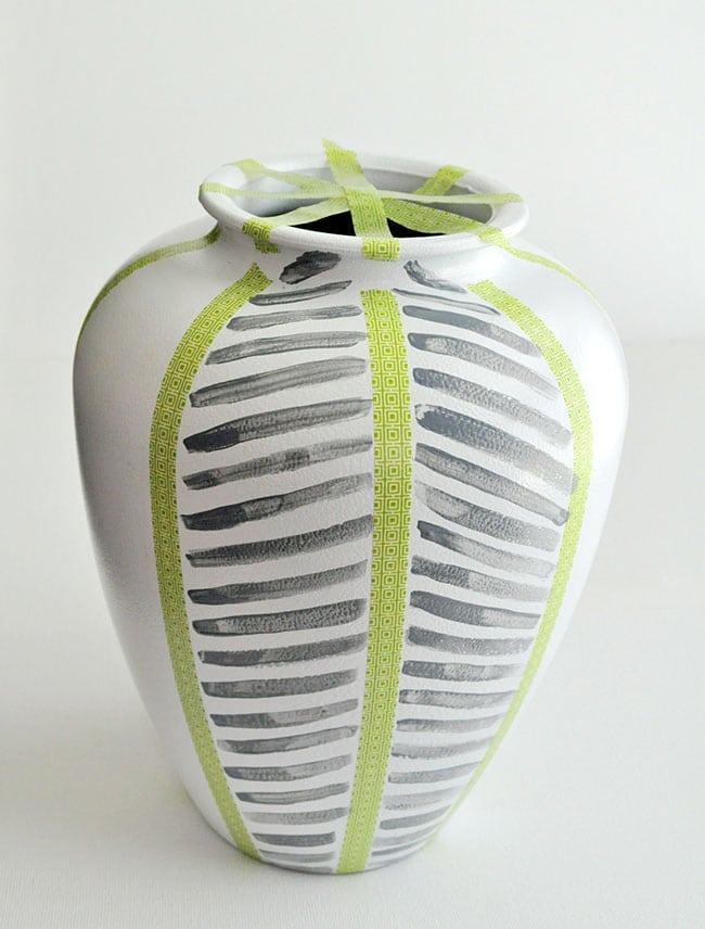 tribal painted vases