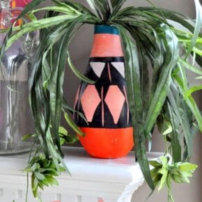 DIY Painted Tribal Vases: Faux Pottery 29