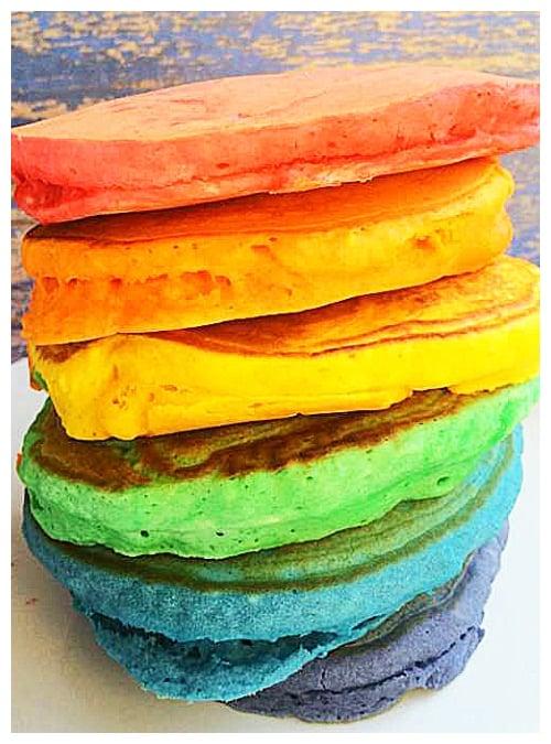 easy rainbow pancakes