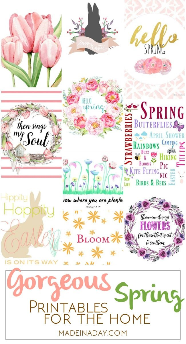 Gorgeous Spring Printable Art for the Home 2