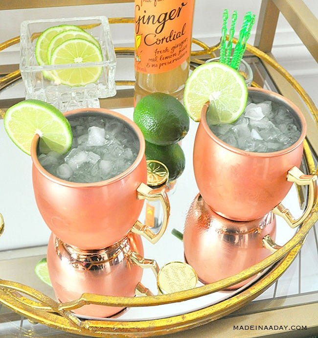 Kiwi Moscow Mule, Sparkling Water Moscow Mule