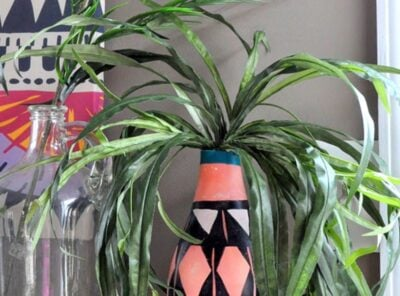 DIY Painted Tribal Vases: Faux Pottery