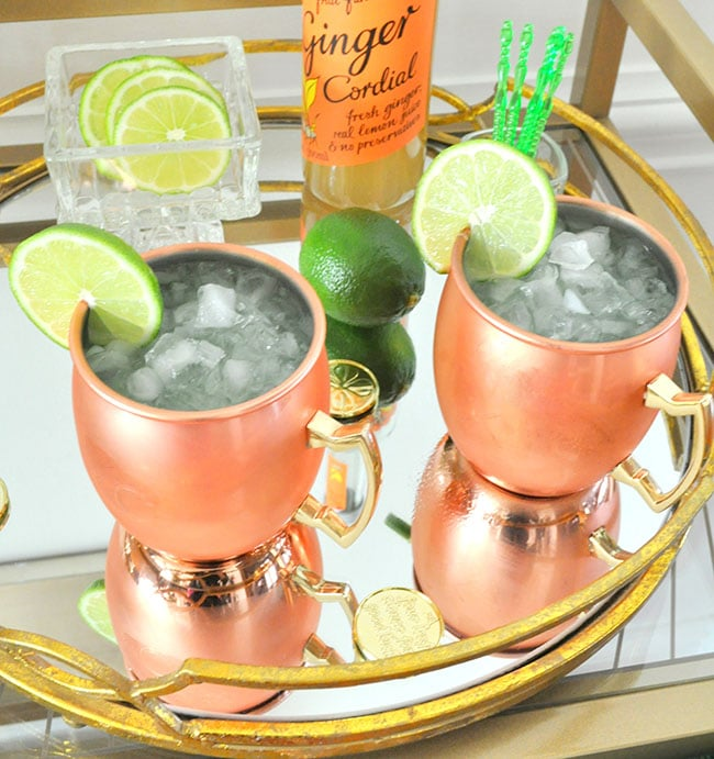 Sparkling Kiwi Strawberry Moscow Mule 6