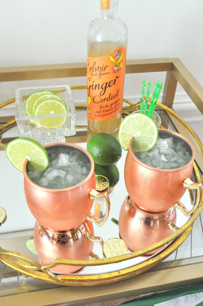 Sparkling Kiwi Strawberry Moscow Mule