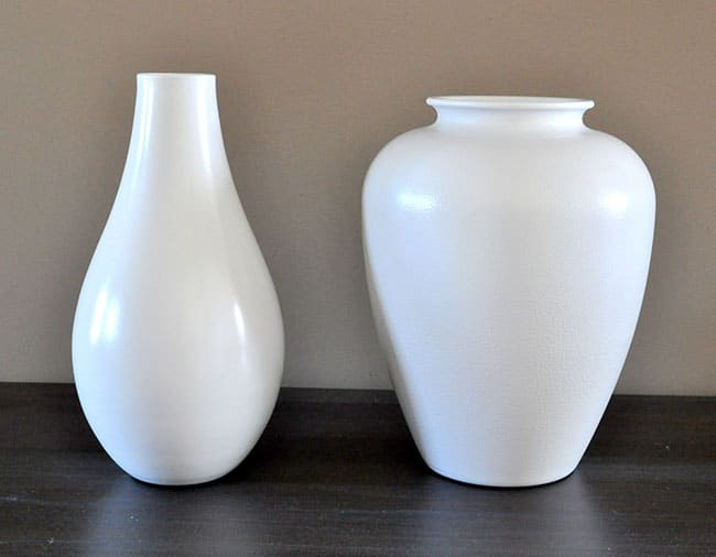 painted thrift store vases
