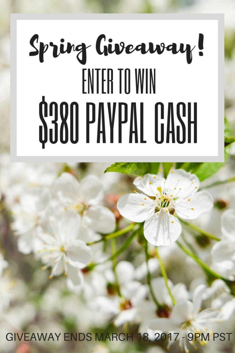 Hello all! Are you ready to win some Cash? I've joined up with some incredible bloggers to give away $350 in Pay Pal Cash to one lucky reader! Just follow the directions on the Rafflecopter link at the bottom of this post to gain entry! Good Luck! Ends March 18, 2017