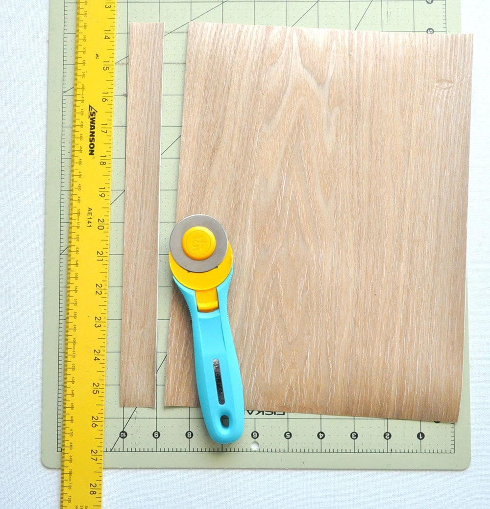 DIY Wood Leather Strap Mirror 5