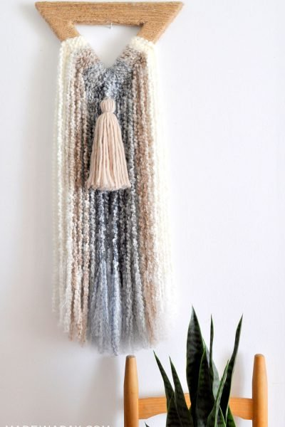 Boho Triangle Fringe Wall Art