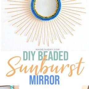 Beaded Sunburst Mirror from Drab to Glam 31