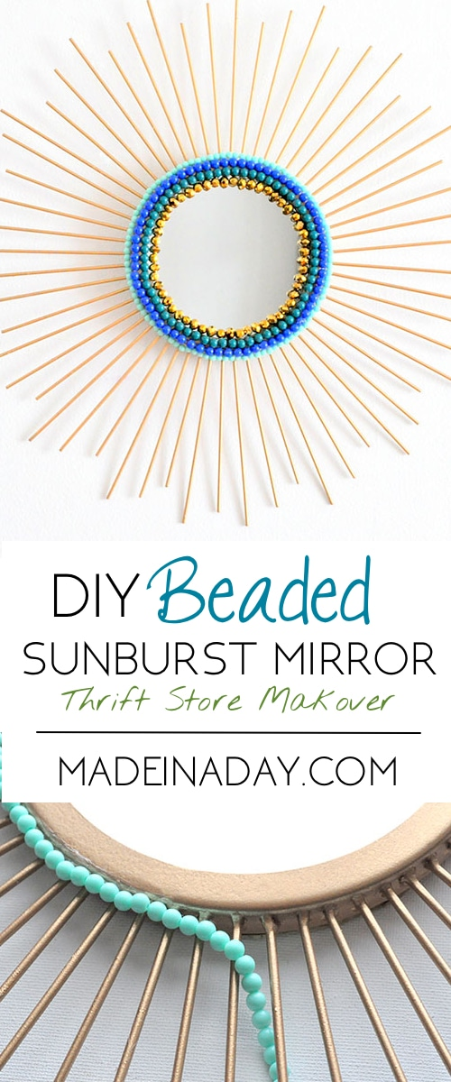 Beaded Sunburst Mirror 7
