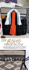 DIY Boho Fringe Throw Pillow 1