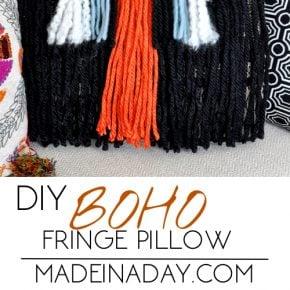 DIY Boho Fringe Throw Pillow 1