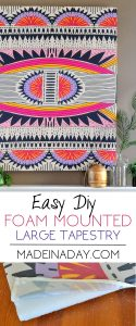 How to Mount a Tapestry for Wall Art 1
