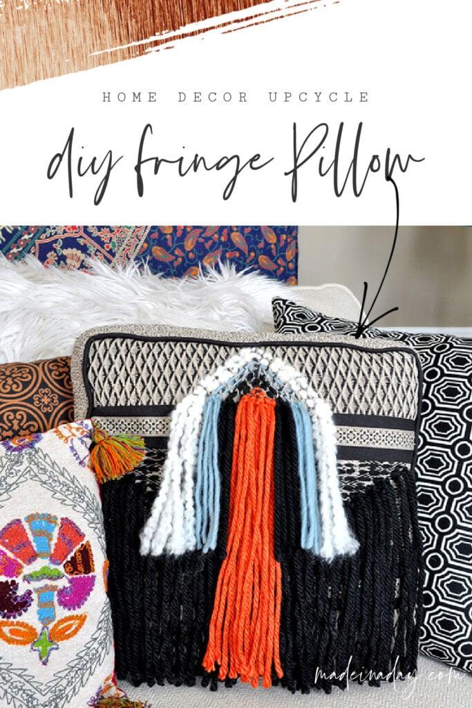 Funky DIY Boho Fringe Throw Pillow