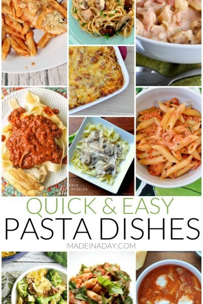 Quick & Easy Pasta Dishes