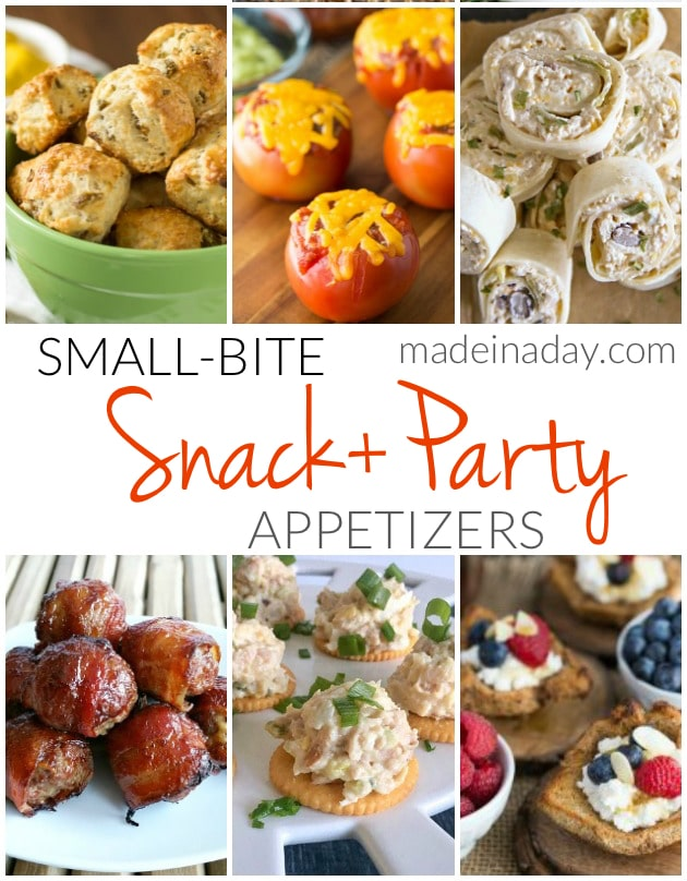Small Bite Snack Party Appetizers